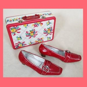 Hogl 60's-mod red shoes